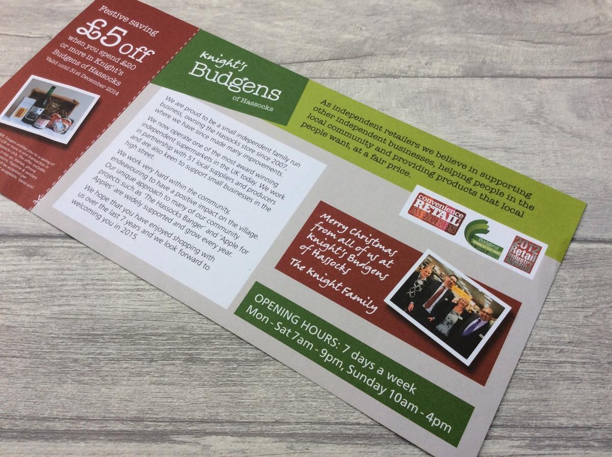 Direct mail leaflet