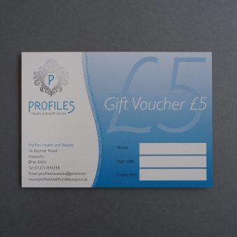 Profiles gift voucher