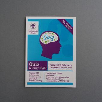 Scouts quiz leaflet